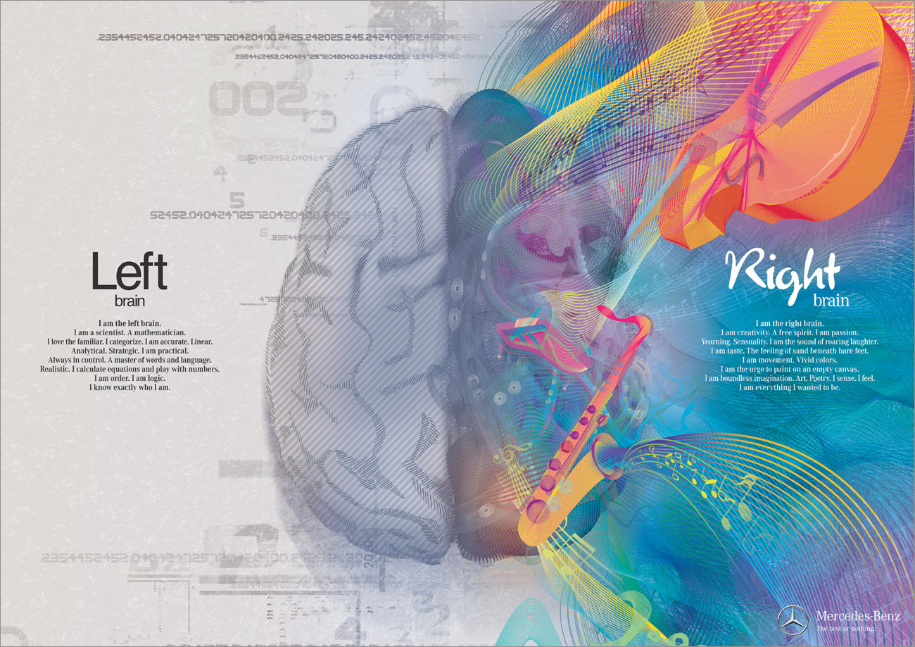 Left Brain & Right Brain infographic collection Left Brain ...