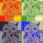 WordFoto used over a drawing, then image is taken into PopArt to create finished piece