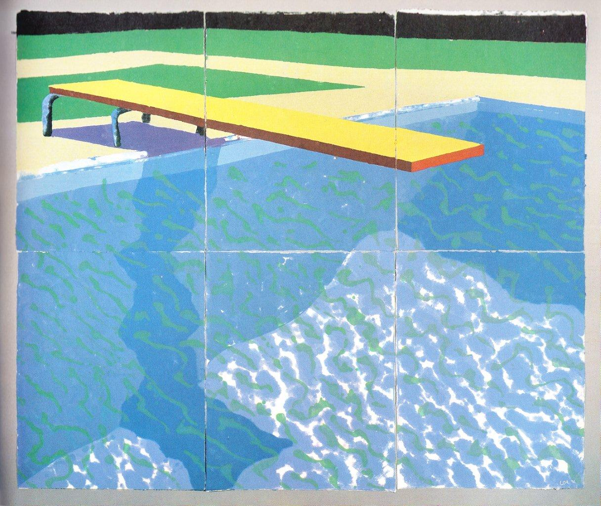 the gallery for gt david hockney painting his pool