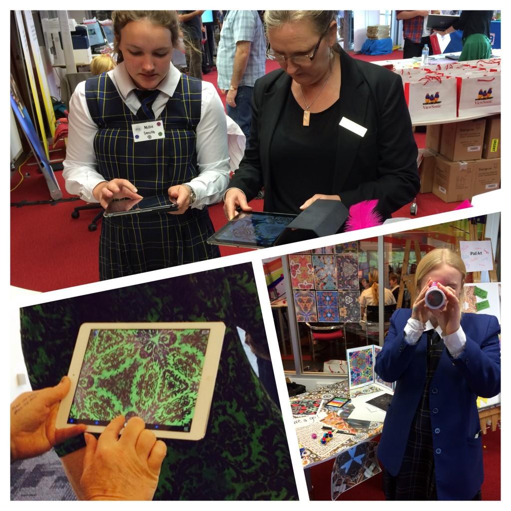 kids and iPad art