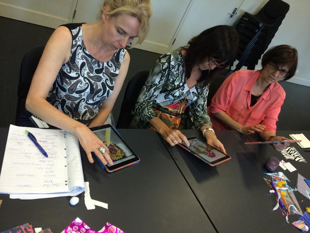 ipad art room teachers in workshop