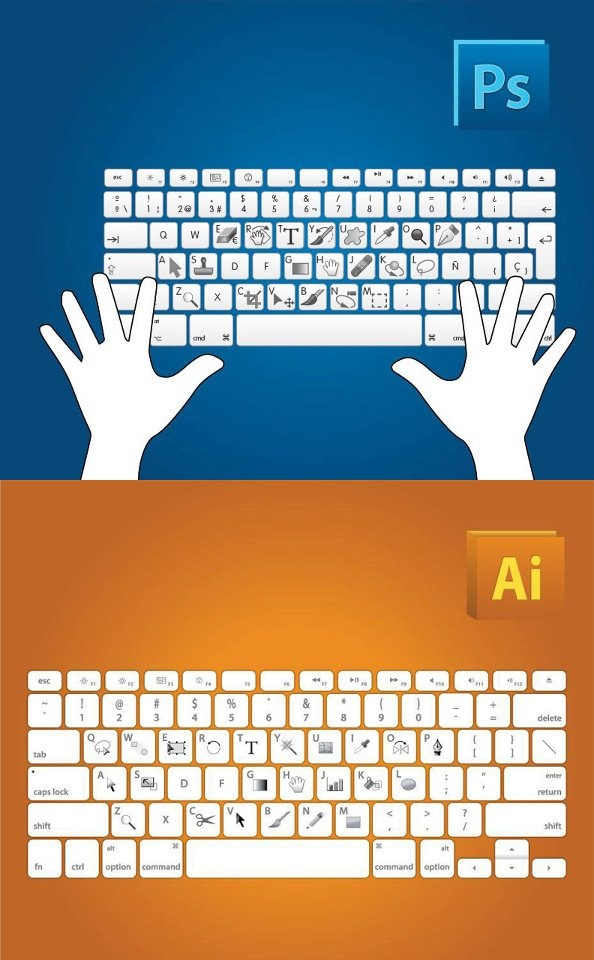 photoshop and illustrator key shortcuts
