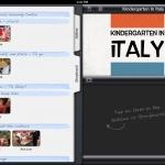 iMovie Italy with photos