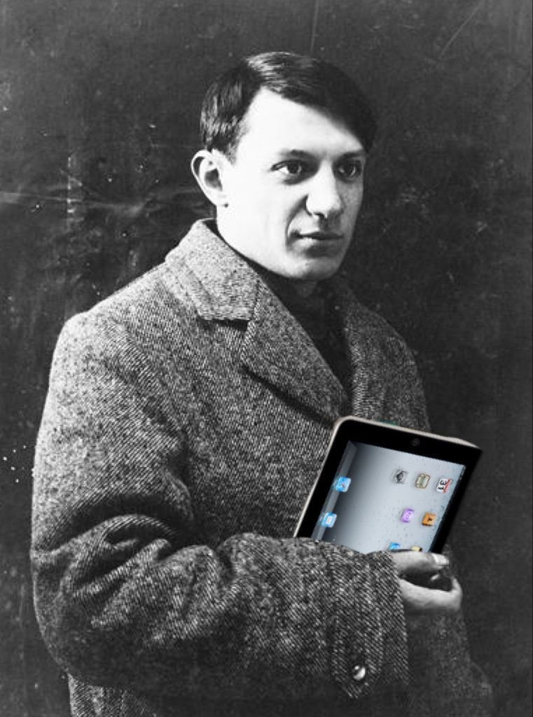 Picasso and his iPad - created using the Superimpose app